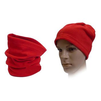 3in1 Winter Unisex Women Men Sports Thermal Fleece Scarf Snood Neck Warmer Face Mask Beanie Hats