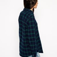 ASOS Black Watch Check Shirt