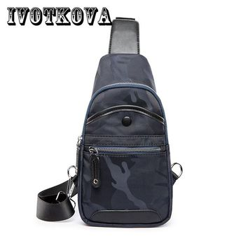 IVOTKOVA Famous Brand Men Bag Oxford Cross body Couple Models Fashion Casual Men Chest Bag High Quality Messenger Bags borse