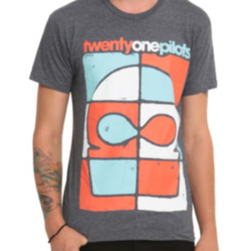 Twenty One Pilots Color Block Mask T-Shirt