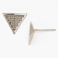 Rebecca Minkoff 'Major Laser' Textured Triangle Stud Earrings