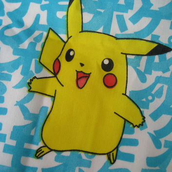 "Pokemon Window Valance Pikachu Craft Nintendo 1998 Boy Girl Kid Bedroom Decor Fabric Window Drapery 84 x 15"" UNUSED"