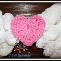 Crochet Heart Angel Wings Photoprop, White Angel Wings with Heart Center, Newborn Angel Wings, Knitted Wings Cosutme, Infant Angel