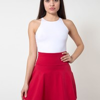 rsa8353 - Cotton Spandex Jersey High-Waist Skirt