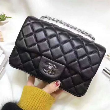 CHANEL Trending Ladies Shopping Leather Metal Chain Crossbody Shoulder Bag High Quality Black I-QS-MP-JZLB