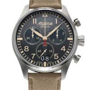 Alpina Startimer Pilot Mens Chronograph Quartz Watch AL-372BGR4S6
