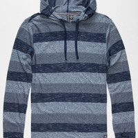 Distortion Indigo Mens Lightweight Hoodie Blue  In Sizes