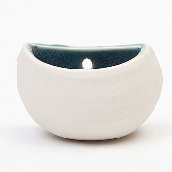 Large Porcelain Wall Pocket Planter