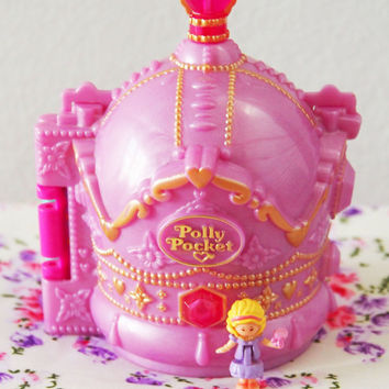 Vintage Polly Pocket Crown Palace -with One Original Figure - Bluebirds Toy - Mattel -RARE