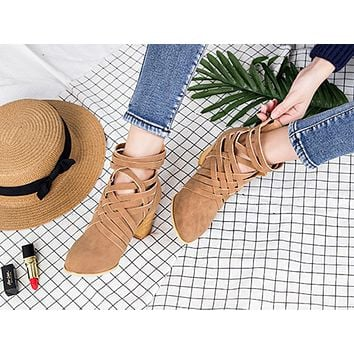 Popular for casual women's ankle boots with cut-out heels