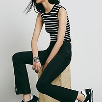 Free People Womens Low Rise Slit Flare