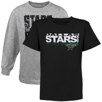 Reebok Dallas Stars Youth Option T-Shirt Combo Pack - Black/Ash - http://www.shareasale.com/m-pr.cfm?merchantID=7124&userID=1042934&productID=520943373 / Dallas Stars