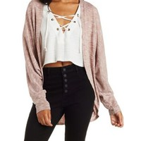 Marled Dolman Sleeve Cocoon Cardigan by Charlotte Russe