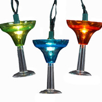 Kurt Adler 10-light Margarita Glass Light Set