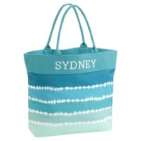 Beach Tote, Cool Tie-Dye Stripe