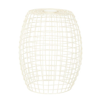 Wired Geometric Stool in Ivory