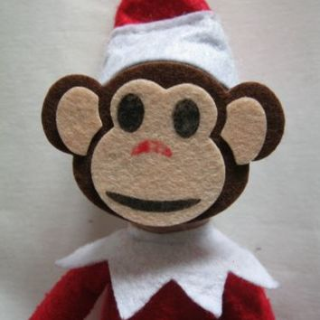 elf props MONKEY MASKS OUTFIT COSTUME on the shelf accessories christmas | eBay