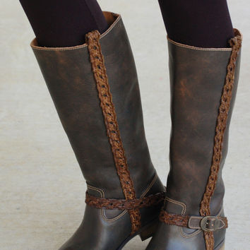 Vintage Formation Leather Boot-Chocolate Brown