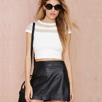Cut-out Mesh Top