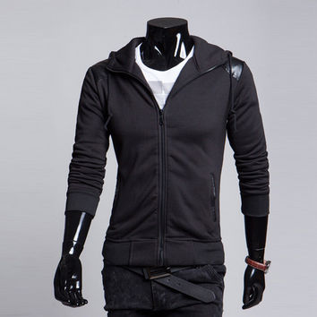 Winter Stylish Casual Slim Hats Men Hoodies Jacket [6528703171]