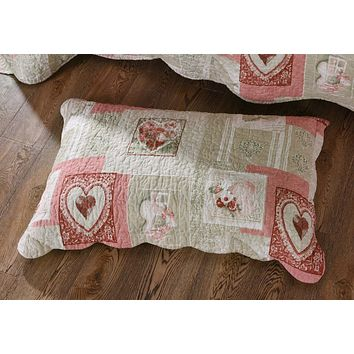 "Tache Dainty Sweetheart Cottage Pillow Sham 20"" x 30"" - 2 Piece (SD-17007-Sham)"