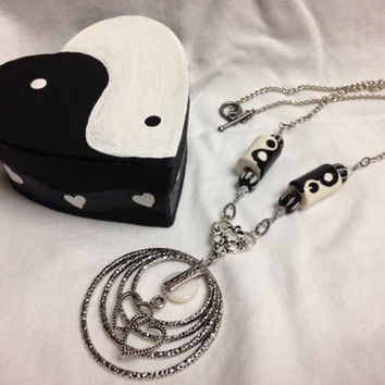 Yin Yang Valentine necklace and trinket box set - Valentine's Day -Friend gifts -Yin yang jewelry -Valentines gifts for Women -Gifts for her