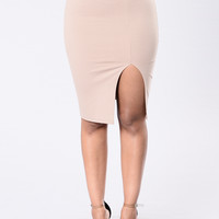 Luscious Lady Skirt - Taupe