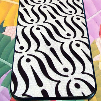 Trippy Curves Black and White for iPhone 4/4s/5/5S/5C/6, Samsung S3/S4/S5 Unique Case *95*