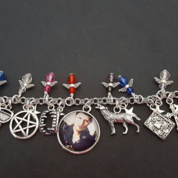 Klaus the originals / vampire diaries  inspired charm bracelet