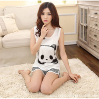 Lady's Two Piece Panda Pajama Set (Small)