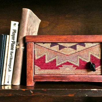 Wood Speaker for iPhone, iPod, Etc. Great on a Bookshelf, Side Table, or Desk. - Handmade from Reclaimed Wood - Red Southwest