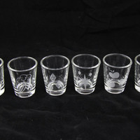 My Little Pony Friendship is Magic Mane 6 Cutie Mark Inspired Etched shot Glass Set of 6