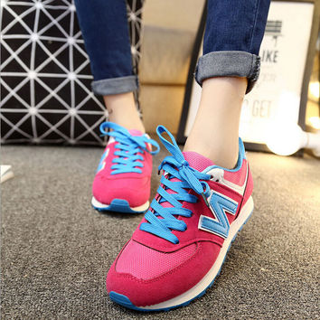 Fashion round head Multicolor casual sports shoes