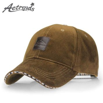 Trendy Winter Jacket [AETRENDS] 2018 Winter Baseball Cap Fashion Hats for Men casquette polo 4 Colors for Choice Z-1937 AT_92_12
