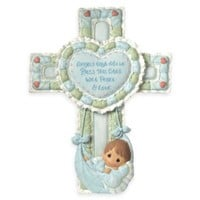 Precious Moments® Precious Little Blessings Baby Boy Cross with Stand