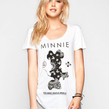 Neff Disney Collection Minnie Bandana Womens Tee White  In Sizes