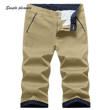 Men's Cotton casual Shorts  Summer Style Breathable Clothing Sweat Large size fat guy Five cents trousers 566