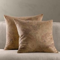 Antiqued Printed Velvet Pillow Covers | Pillows | Restoration Hardware