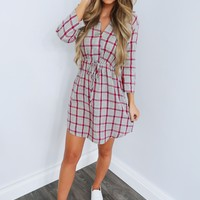 Flannel Babe Dress: Grey/Multi