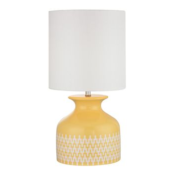 D2503 Carnforth Ceramic Table Lamp In Sunshine Yellow
