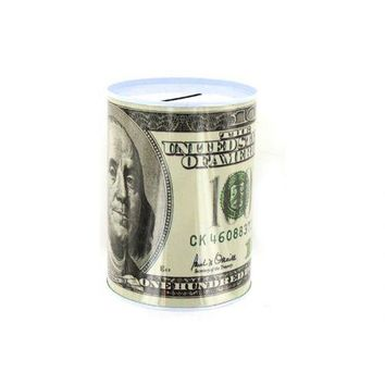 100 Dollar Bill Tin Money Bank (pack of 24)