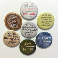 Lord of the Rings buttons or magnets - choose 6 - 2.25 inch pinback button or magnet