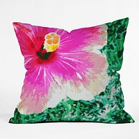 Deb Haugen Pink Hibiscus 2 Throw Pillow