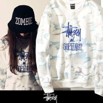 CREYONPR Fashion Stussy and Sophnet Tie Dye Embroidered Pullovers Sweaters Hoodies