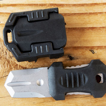 Small Outdoor Survival Tool & Knife for Molle Bags