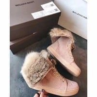 DCCKU62 Sale Louis Vuitton LV Winter Sheepskin Snow Boots