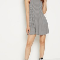 Peach Striped Cutout Back Ringer Swing Dress | Casual Dresses | rue21