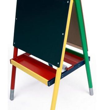 Childrens_Easel_with_Black_Chalkboard,_White_Marker_Board,_2_Sided,_2_Storage_Trays_19523