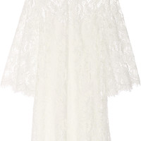 Marchesa - Embellished lace mini dress