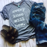 Every Knee Will Bow Top - Also in Plus Size